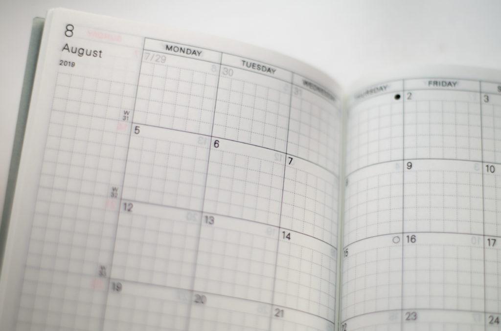 Kalendarz miesięczny.
